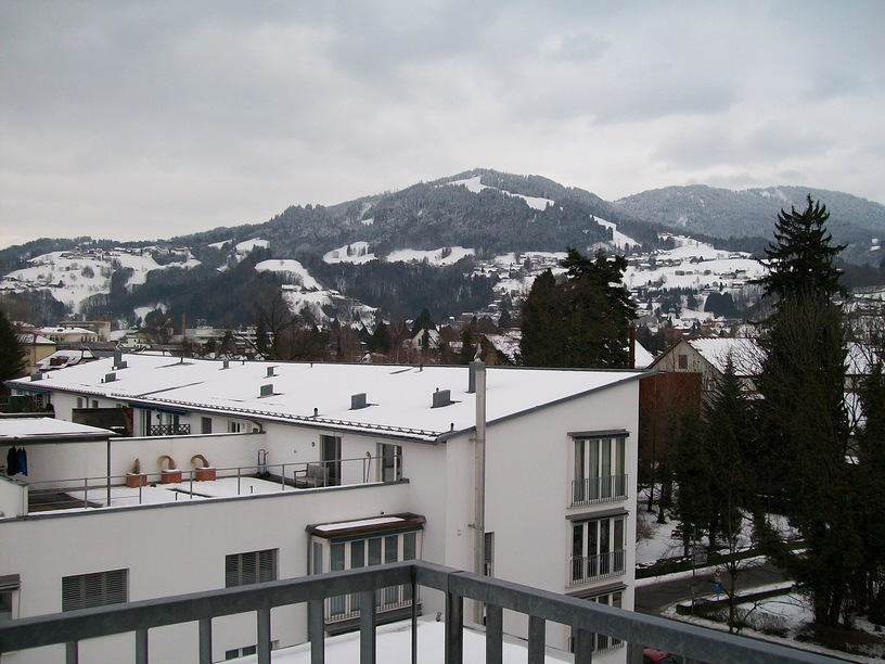 View from my room in Kolpinghaus, Dornbirn
