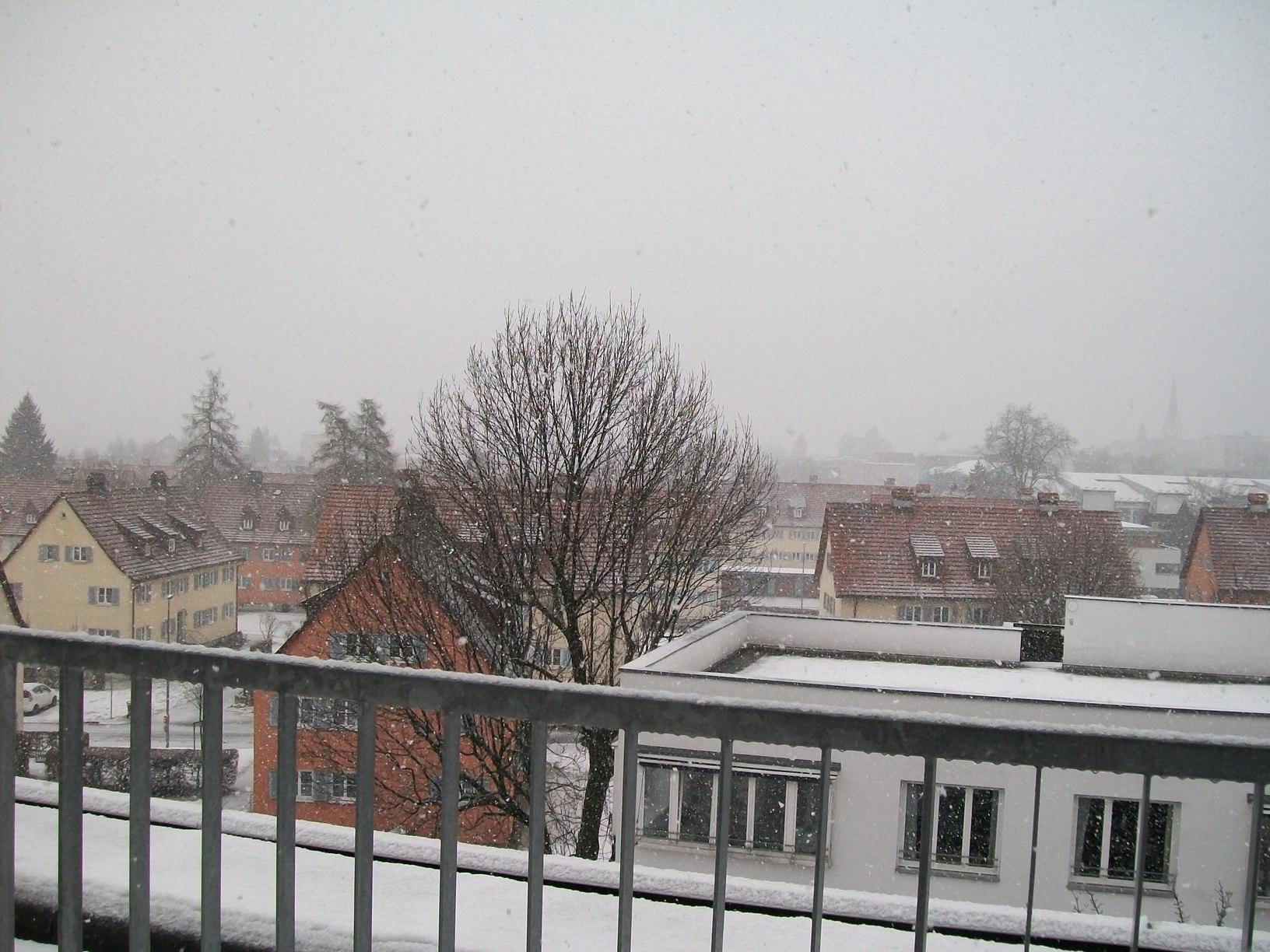 Snowing Dornbirn