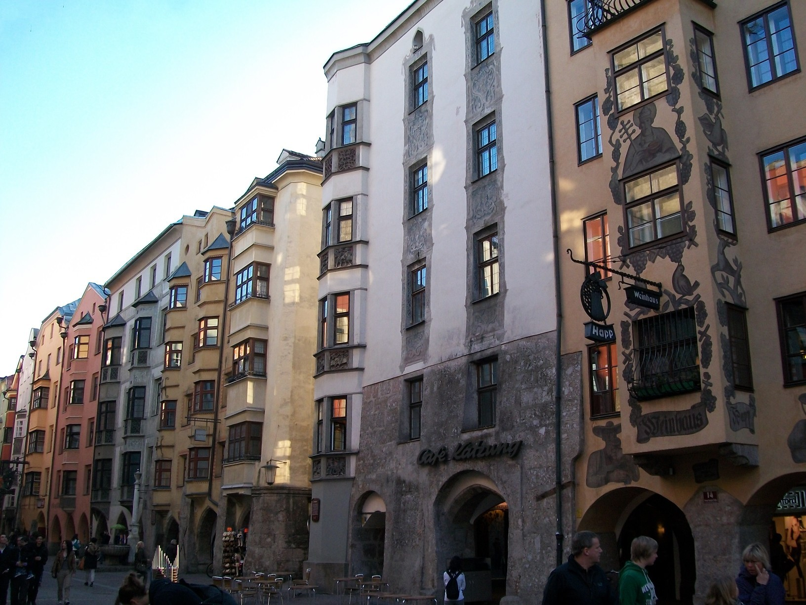 Buildings in Innsbruck's Altstad (literally Old Town) still look like they might have several centuries ago.