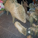 These magnificent grass pigs were standing outside a shop in the Altstad in Innsbruck.