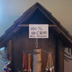 This very fancy wooden cuckoo clock was definitely not made in China.