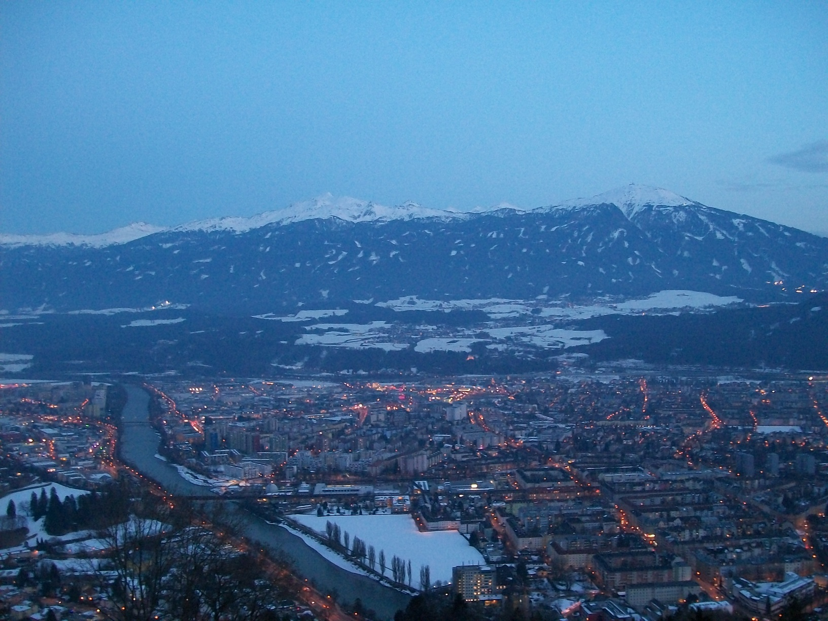 The view of Innsbruck from up high.
