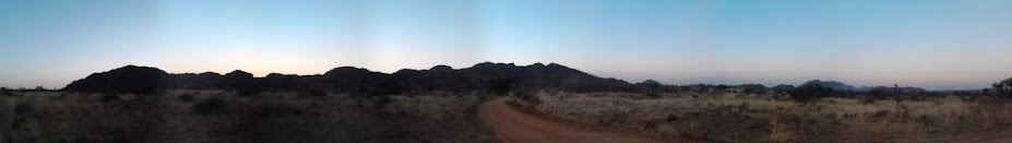 A panorama of the mountains around Namib Grens guestfarm on the Spreetshoogte Pass in Namibia.