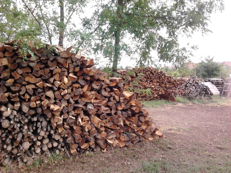 Another pile of wood behind the first one