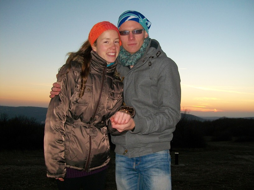 Berni and I engaged on a mountain