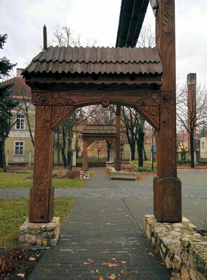 Székely kapu in Tapolca main square