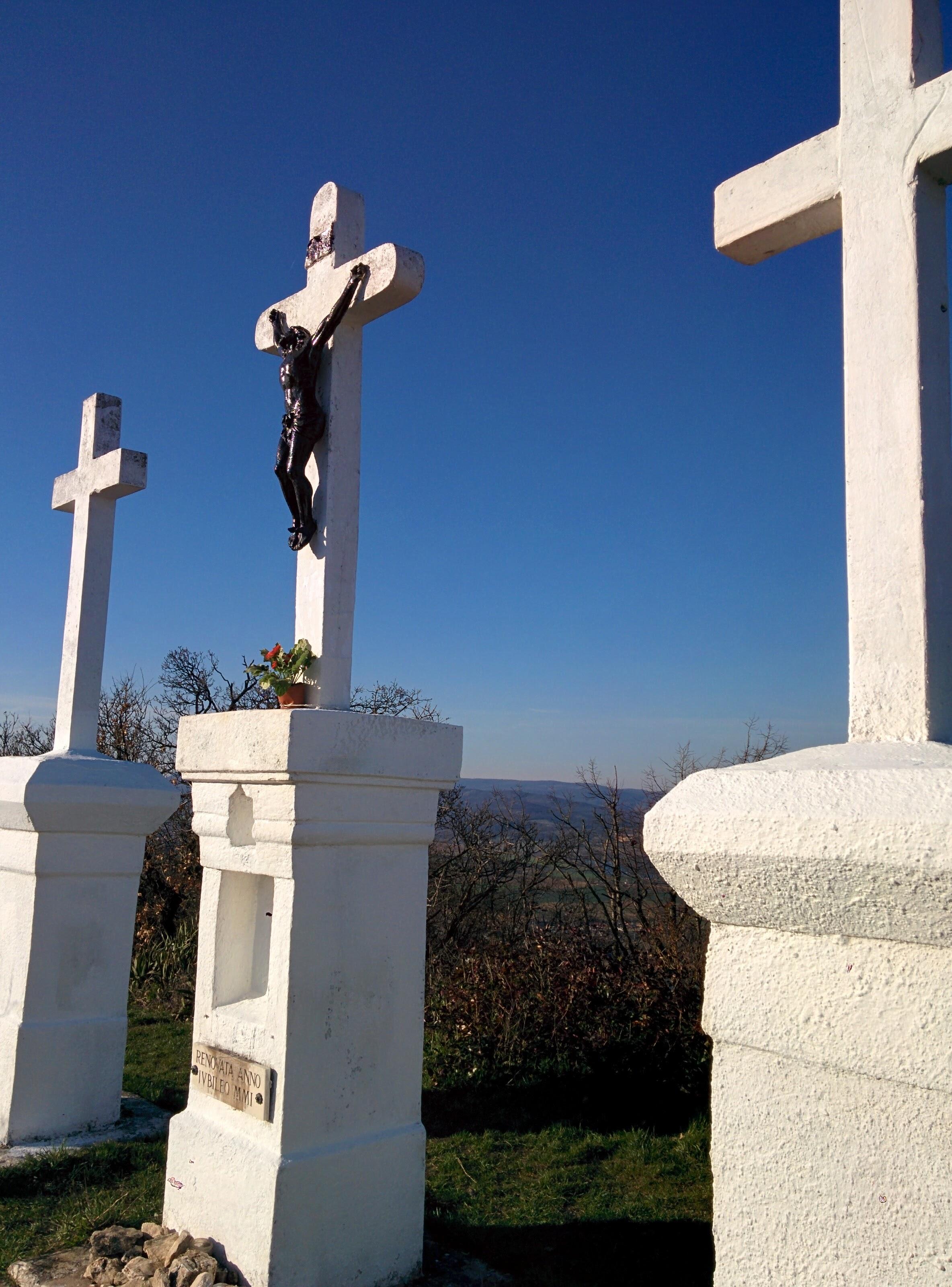 Crosses atop Kalvária hill