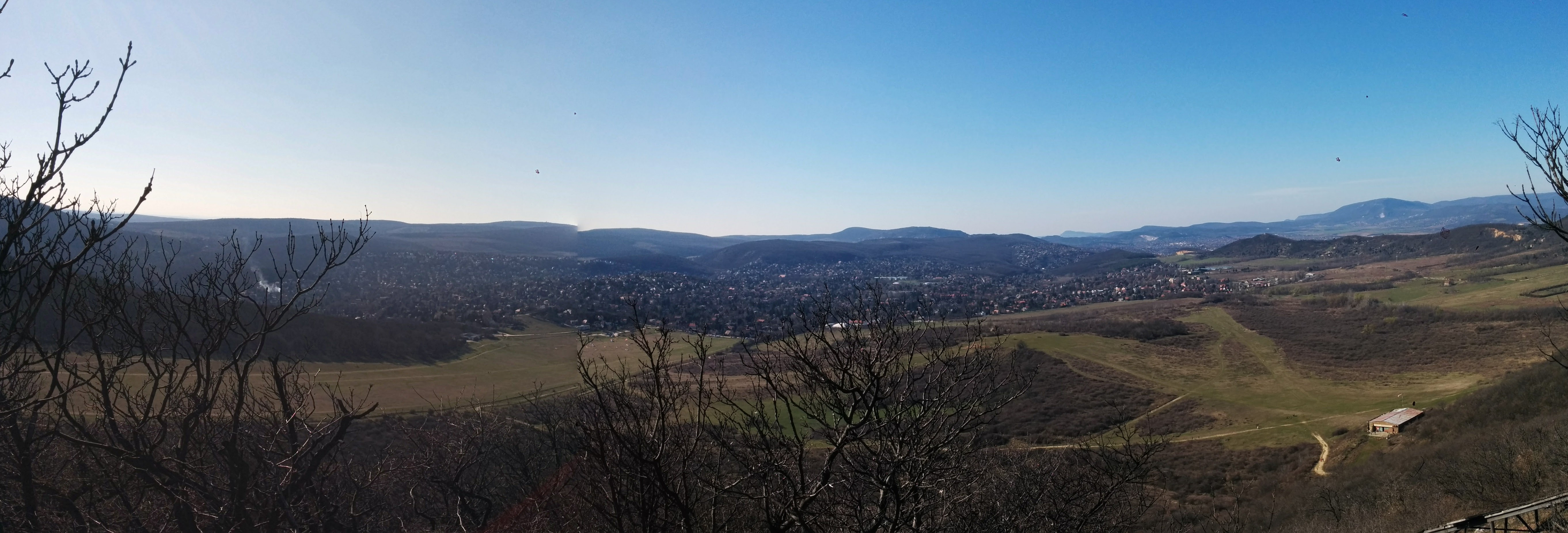 Panorama of Buda from the paraglider start site