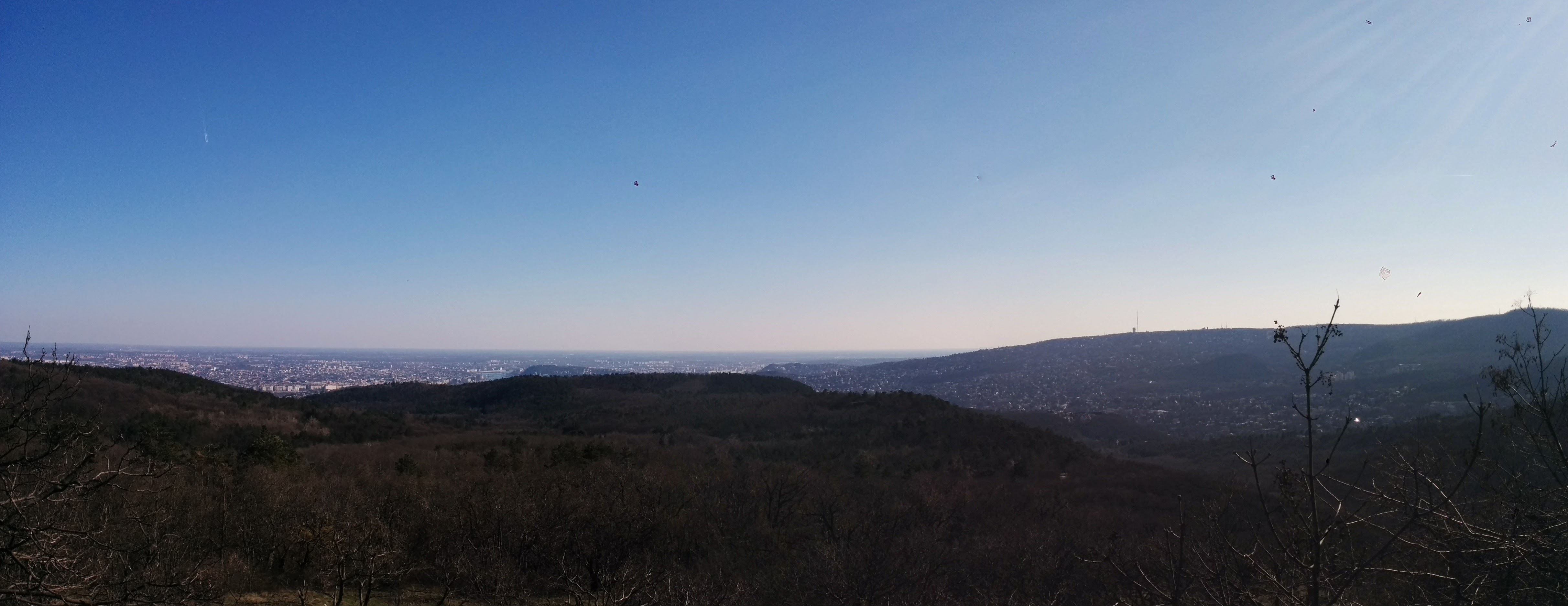 Panorama view from the paraglider start site