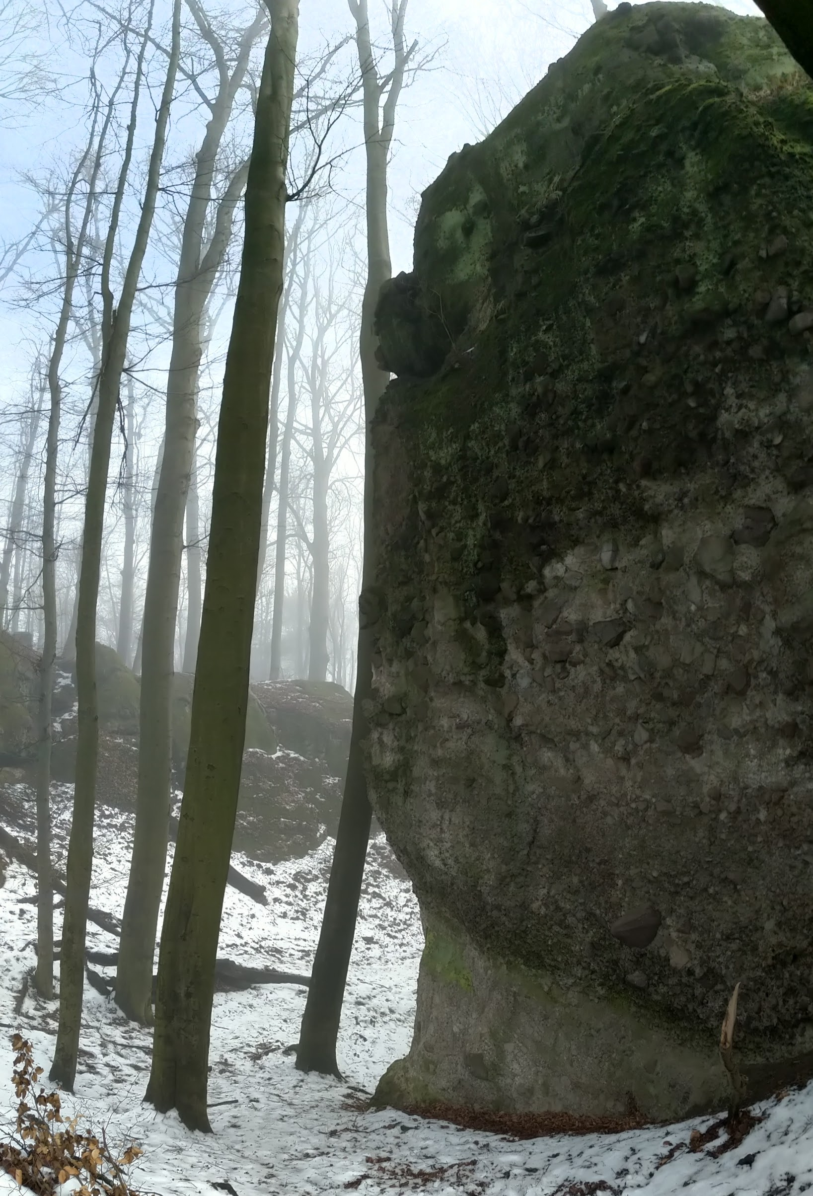 photo of a rock face
